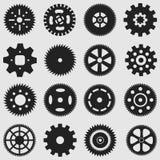 Dientes y rueda de engranaje mecánicos Imágenes de archivo libres de regalías
