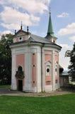Dienzenhofer - chiesa SV. Magdalene a Skalka Fotografia Stock Libera da Diritti