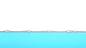 Diep blauw water, de achtergrond van de bellentextuur Royalty-vrije Stock Fotografie