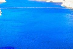 Diep Blauw Water in Hoover-Dam royalty-vrije stock fotografie