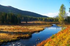 Diep blauw water in rivier. Royalty-vrije Stock Afbeeldingen