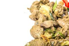 Diep Fried Chicken Liver Dish IX Stock Fotografie