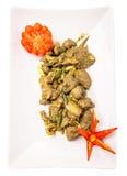 Diep Fried Chicken Liver Dish VI Stock Foto