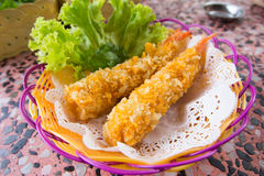 Diep Fried Shrimps-Tempura Shrimps royalty-vrije stock afbeeldingen