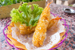 Diep Fried Shrimps-Tempura Shrimps stock foto's