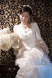 Diep in gedachten Aziatische dame 1 Stock Afbeeldingen