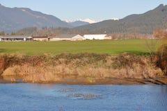 Diep Ravijn en Valleilandbouwbedrijf stock foto