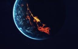 Diep ruimteart. Ontzagwekkend voor behang en druk Elementen van dit die beeld door NASA wordt geleverd stock afbeelding