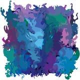 Diepe blauwe abstracte wildernis Royalty-vrije Stock Foto's