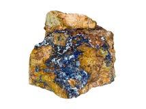Diepe Blauwe Azurite Royalty-vrije Stock Foto's