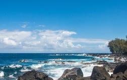 Diepe blauwe oceaan Stock Foto