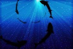 Diepe Blauwe Overzees vector illustratie