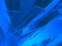 Diepe blauwe stroken Stock Foto's