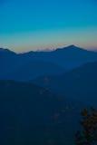 Diepe blauwe zonsopgang Stock Foto's
