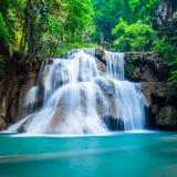 Diepe boswaterval bij Nationaal Park Kanchanaburi Thailand Royalty-vrije Stock Afbeelding