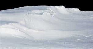Diepe die sneeuwafwijking op zwarte wordt geïsoleerdi Stock Afbeelding