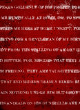 Diepe Donkerrode Grunge-Achtergrond met Witte Rustieke Druk Stock Foto's