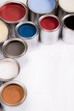 Diepe kleuren van verf Stock Foto's