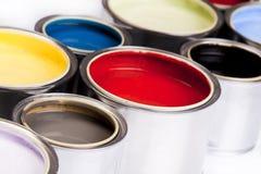 Diepe kleuren van verf Royalty-vrije Stock Foto's