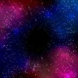 Diepe kosmische ruimte royalty-vrije illustratie