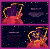 Diepe ruimte Robotsplaneet vector illustratie