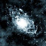 Diepe ruimteachtergrond met melkweg het roteren Royalty-vrije Stock Afbeelding