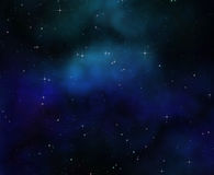 Diepe ruimtenachthemel Royalty-vrije Stock Fotografie