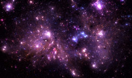 Diepe ruimtenevel Stock Foto
