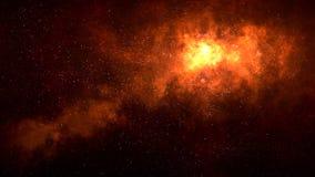Diepe ruimtenevel met sterren royalty-vrije illustratie