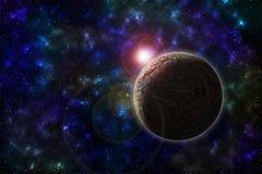Diepe ruimteplaneet royalty-vrije stock afbeeldingen