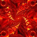 Diepe tunnel van rode en gele glasballen Royalty-vrije Stock Foto's