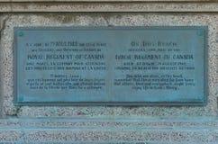 DIEPPE,法国- 2018年5月01日:对加拿大士兵的纪念碑岸的在登陆时在Dieppe,法国 免版税库存照片