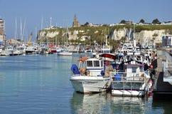 dieppe łódkowaty połów France Fotografia Royalty Free