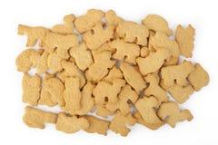 Dier gevormde die cracker op wit wordt geïsoleerd Royalty-vrije Stock Foto's