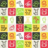 Dieren gecontroleerd patroon Stock Illustratie