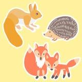 Dieren geschilderde Krabbelstickers Royalty-vrije Stock Fotografie