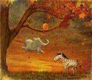 Dieren in het Bos royalty-vrije illustratie