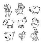 Dieren, illustratie Stock Afbeeldingen
