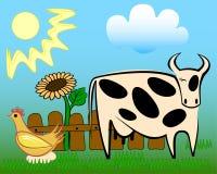Dieren op het landbouwbedrijf Stock Foto