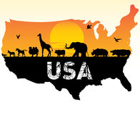 Dieren van de V.S. stock illustratie