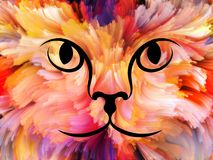 Dieren van Kleur royalty-vrije illustratie
