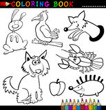 Dieren voor het Kleuren van Boek of Pagina Royalty-vrije Stock Foto