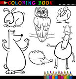 Dieren voor het Kleuren van Boek of Pagina Stock Fotografie