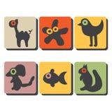 Dierenpictogrammen Royalty-vrije Stock Afbeelding