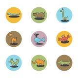dierenpictogrammen Stock Afbeelding