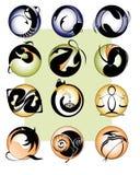 dierenriem 12 zingt vector illustratie
