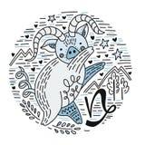 Dierenriem Signes Steenbok royalty-vrije illustratie