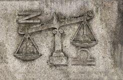 Dierenriem - Weegschaal of Schalen, royalty-vrije stock afbeelding