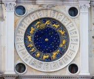 Dierenriemklok in Venetië Stock Foto's