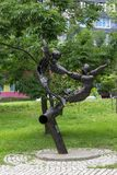 Dierenriemteken Tweeling in het Park bij de Amur-Boulevard Royalty-vrije Stock Afbeelding